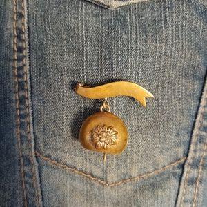 Vintage Metal Bell Pin